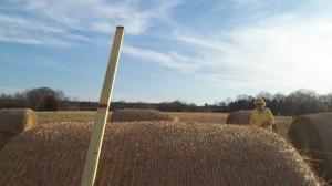 Nashoba member Anne Snowden planning some tricky patterns through the Hay Hazard!